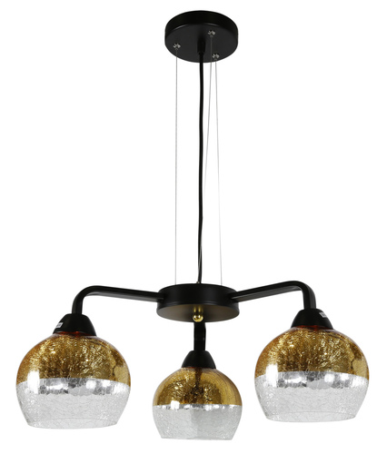 Cromina Gold Hanging Lamp 3X60W E27 Black