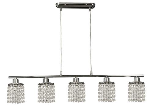 Royal Pendant Lamp 5X40W G9 Chrome + Crystals