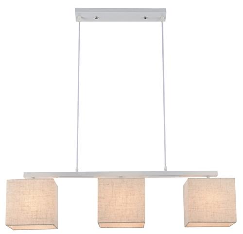 Boho Pendant Lamp 3X40W E27 White Lampshade. Flax