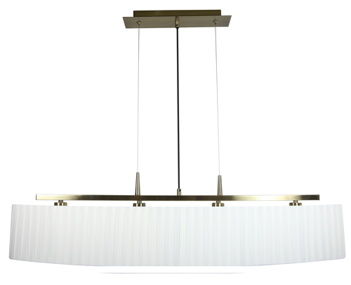 Berg Hanging Lamp 4X40W E14 Patina Lampshade White