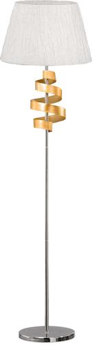 Denis Floor Lamp 1X60W E27 Chrome / Gold