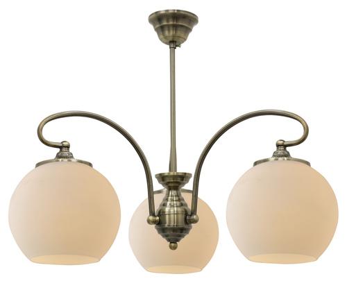 Orbit Hanging Lamp 3X60W E27 Patina Copper