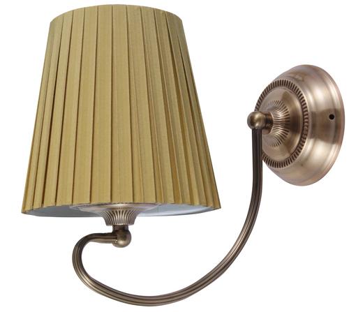 Mozart Lamp Wall Lamp 1X60W E27 Patina Copper Honey
