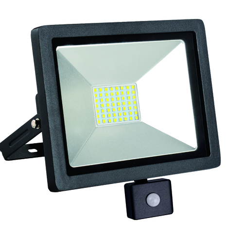 LED floodlight slim with motion sensor 50W / 230V 6400K PIR