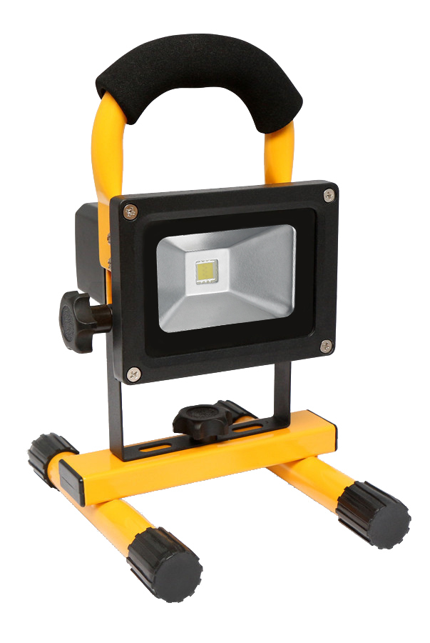 Portable LED floodlight 10W 6400K with battery