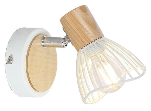 Chile Lamp Wall Lamp 1Xmax25W E14 White + Wood