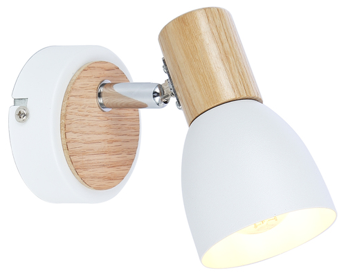 Anabel 2 Lamp Wall Lamp 1Xmax25W E14 White + Wood