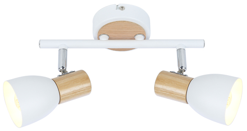 Anabel 2 Ceiling Lamp Strip 2Xmax25W E14 White + Wood