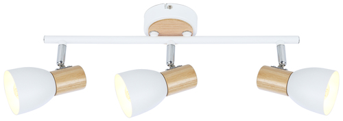 Anabel 2 Ceiling Lamp Strip 3Xmax25W E14 White + Wood