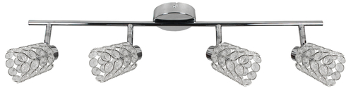 York Ceiling Lamp Strip 4X40W G9 Chrome