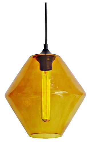 Bremen Hanging Lamp 20 1X60W E27 Orange Lampshade + Bulb