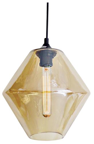 Bremen Hanging Lamp 20 1X60W E27 Smoke Lampshade + Bulb