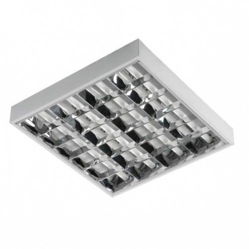 Rework surface mounted 4x18W fluorescent luminaire