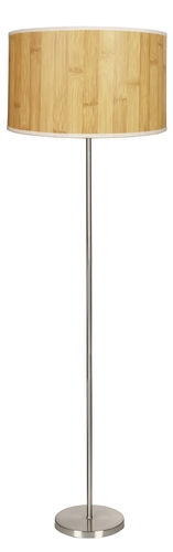 Timber Floor Lamp 1X60W E27 Pine + Lampshade Same Index
