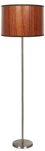Timber Floor Lamp 1X60W E27 Oak + Lampshade Same Index