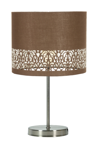 Arabesca Cabinet Lamp 25X25X20 1X60W E27 Brown (Lampshade 77-19496, Base 87-15849)