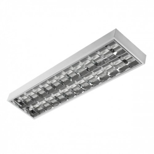 Raster luminaire for LED 2x36W fluorescent lamps
