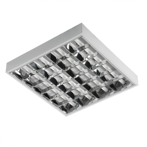 Raster luminaire for LED 4x18W fluorescent lamps surface