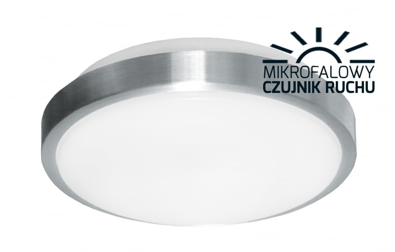 Plafoniera LED with 12W 2700K microwave sensor diameter 260mm