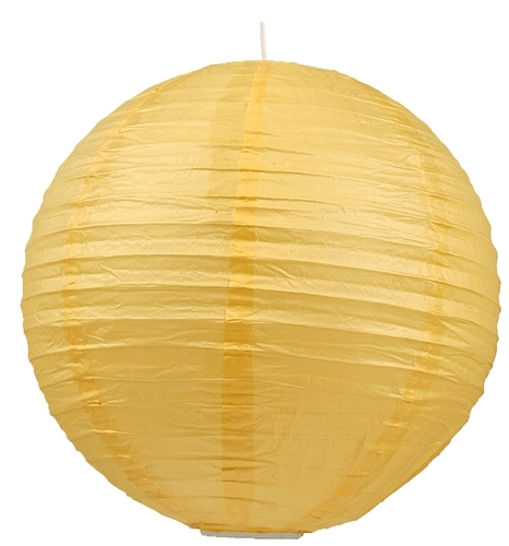 Paper Lampshade - Cocoon Paper Ball 50 Yellow