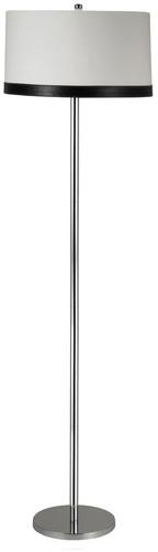 Tida Floor Lamp 1X60W E27 Chrome / Lampshade Canvas / Leather