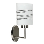 Visola Lamp Wall Lamp 1X60W E27 Matte Nickel / Brown Stripes