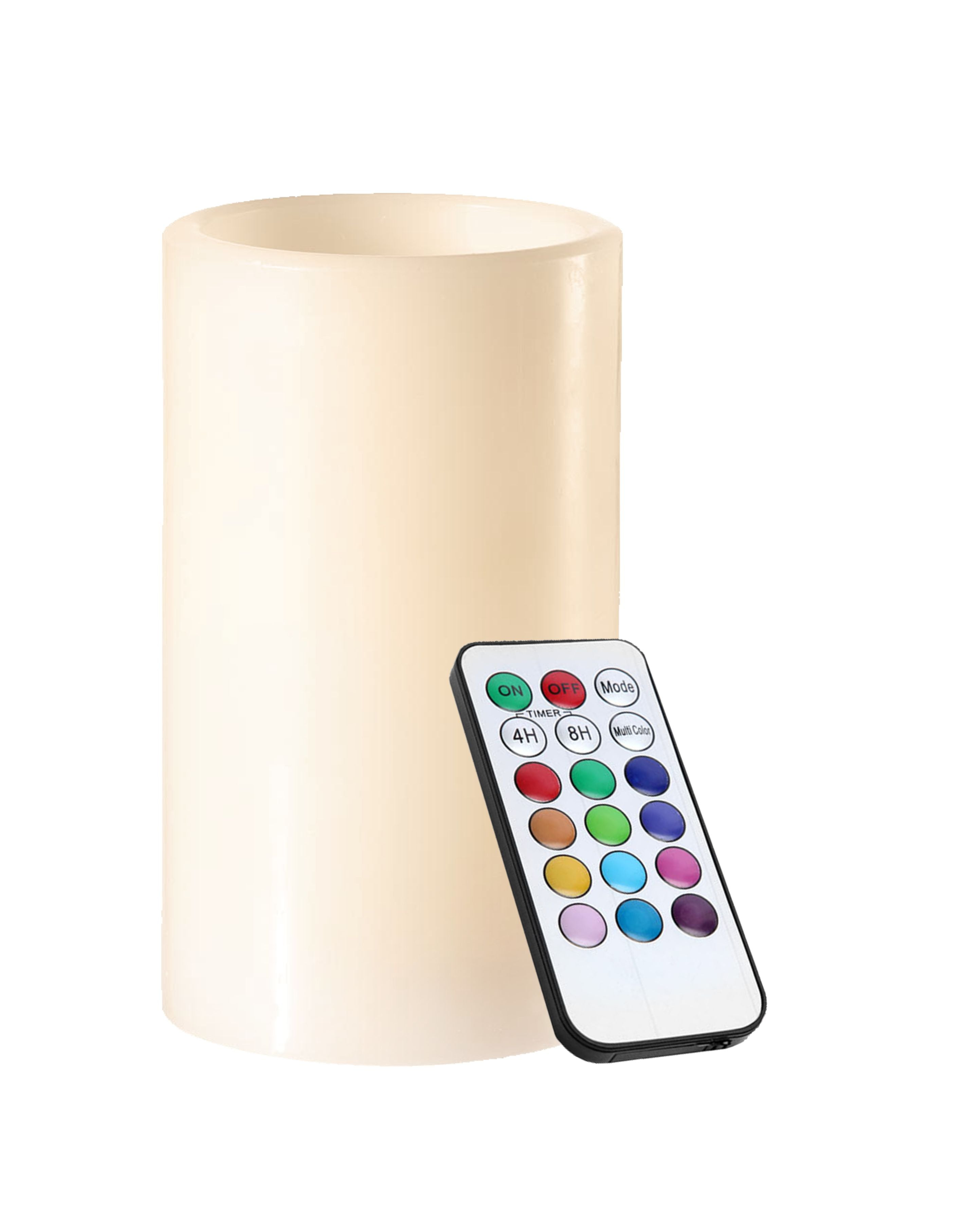 Wax RGB LED candle with remote control
