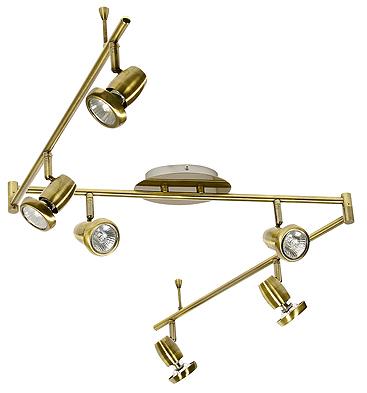 Lamp Lotos Strip 6X50W Gu10 Patina
