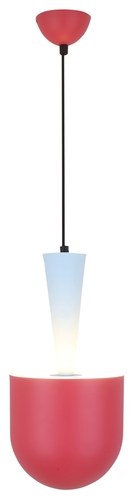 Hanging Lamp Visby 1 Blue Red