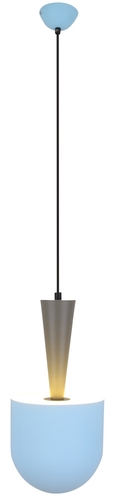 Hanging Lamp Visby 1 Blue Gray