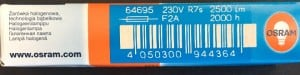 OSRAM R7s 150W 78mm halogen filament small 2