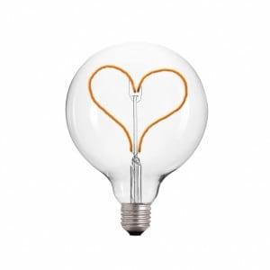 Żarówka Dekoracyjna LED serce E27 3.5W 2000k 230V