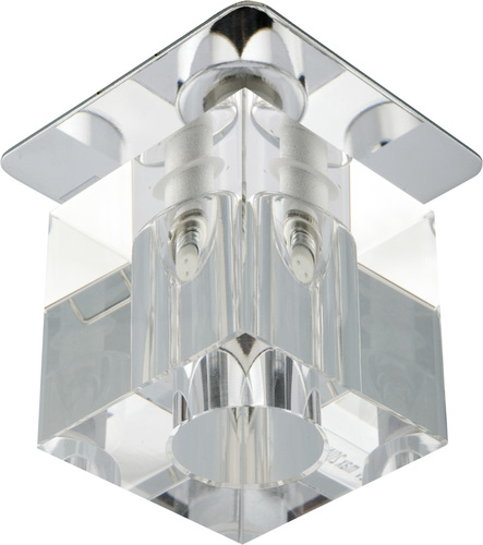 Sk-18 Ch / Wh G4 Chrome Flush Ceiling Fixed Crystal 20W G4 Transparent