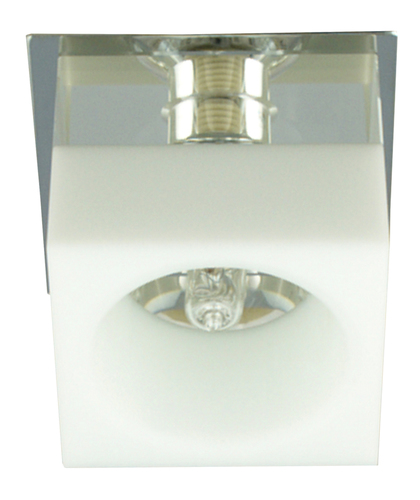 Sk-66 Ch / Wh G9 Chrome Flush Ceiling Decorative Square White G9 40W