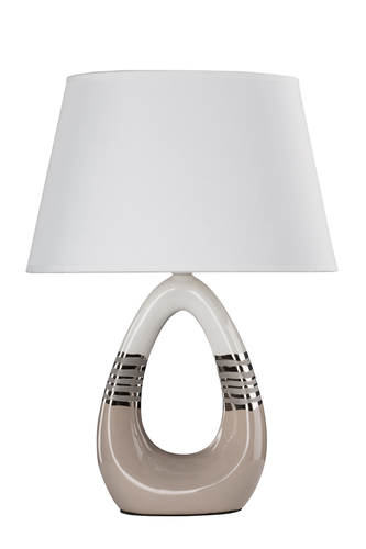 Romano Cabinet Lamp 1X60W E27 Beige and White