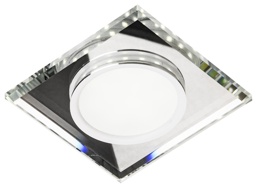 Ssp-22 Ch / Tr + Wh 8W Led 230V Ring Led White Eyelet Ceiling Ceiling Lamp Fixed Square Glass Transparent