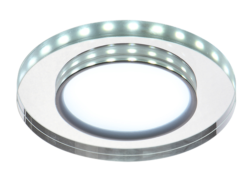 Ssp-23 Ch / Tr + Wh 8W Led 230V Ring Led White Eyelet Ceiling Ceiling Lamp Fixed Round Glass Transparent