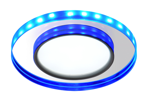 Ssp-23 Ch / Tr + Bl 8W Led 230V Ring Led Blue Eyelet Ceiling Ceiling Lamp Fixed Round Glass Transparent