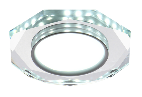Ssp-24 Ch / Tr + Wh 8W Led 230V Ring Led White Mesh Ceiling Lamp Octagonal Ceiling Lamp Transparent Glass