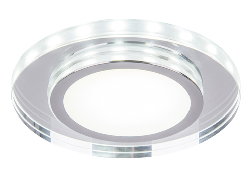 Ssp-26 Ch / Tr + Wh 10W Led 230V Ring Led White Eyelet Ceiling Ceiling Lamp Round Sanding Glass Transparent