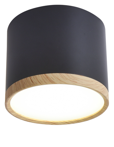 Tuba Ceiling Lamp 9W Led 8.8 / 7.5 Wood + Black 4000K