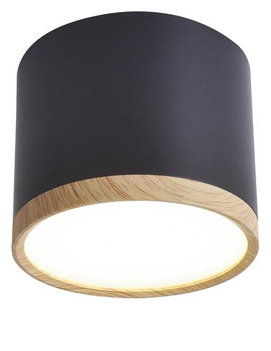 Tuba Ceiling Lamp 9W Led 8.8 / 7.5 Wood + Black 4000K