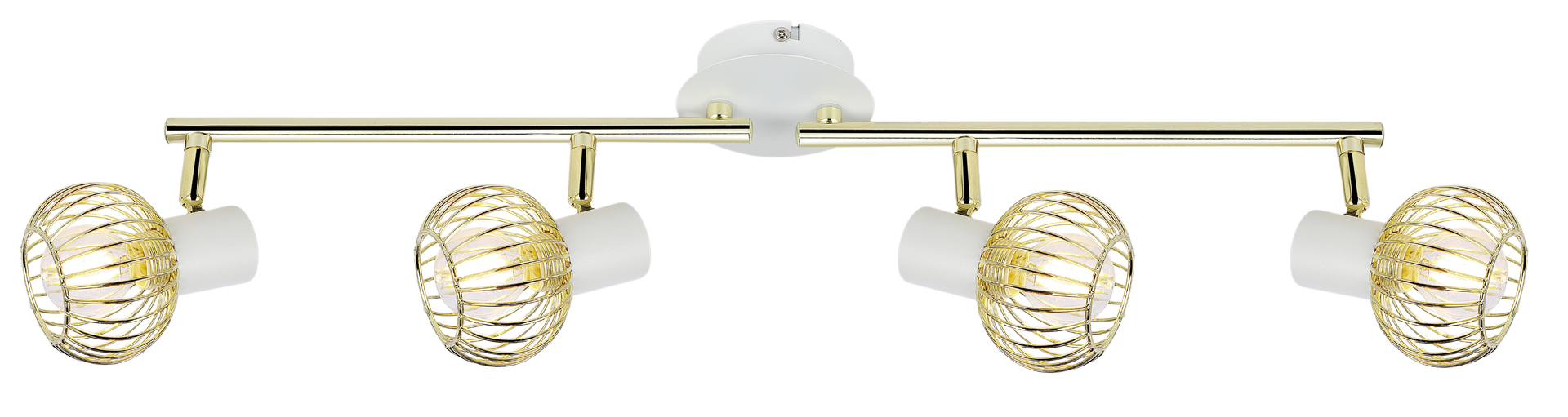 Oslo Ceiling Lamp Strip 4X40W E14 White / Gold