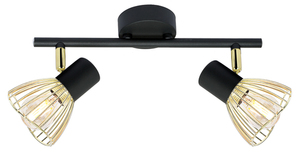 Fly Ceiling Lamp Strip 2X40W E14 Black / Gold small 0