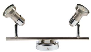 Arkon Ceiling Lamp Strip 2X50W Gu10 Sat Nickel + Chrome Without Bulbs small 0