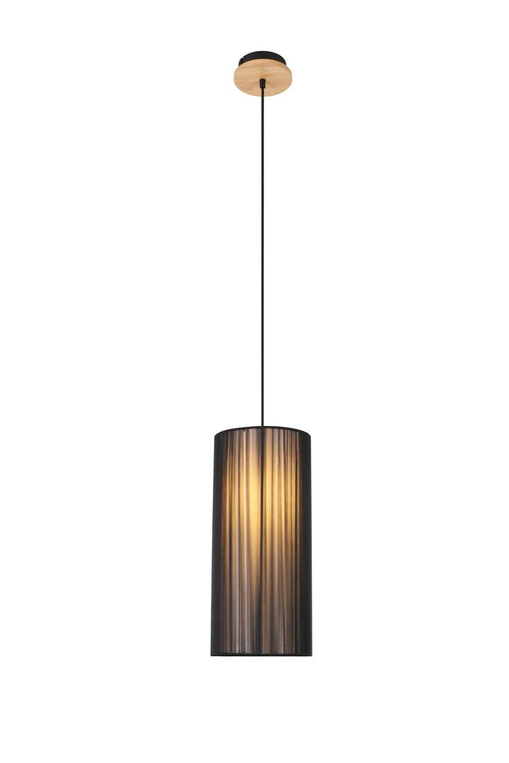 Hanging Lamp Kyoto 1 Black 130X18X18
