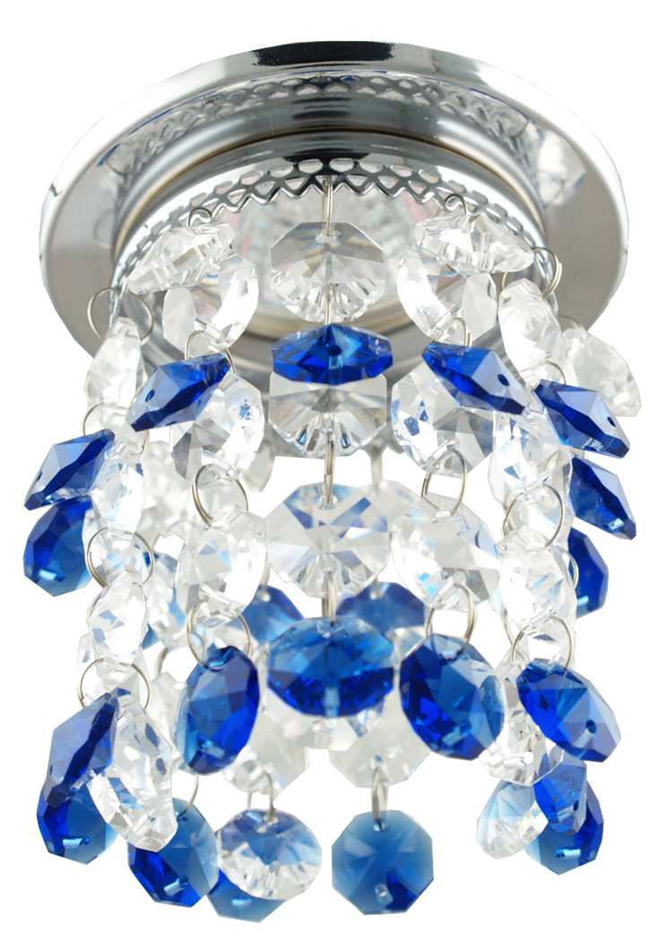 Sk-68 Ch / Blu Mr16 Chrome Flush Ceiling Decorative Blue Mr16 50W