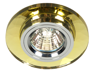Ss-11 Ch / G Mr16 Chrome Finish Ceiling Fixed Round Golden Glass small 0