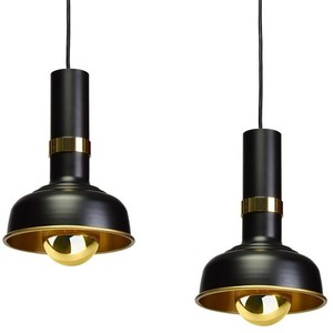 Hanging lamp Margo Black / Gold 3x E27 small 4
