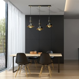 Hanging lamp Margo Black / Gold 3x E27 small 6